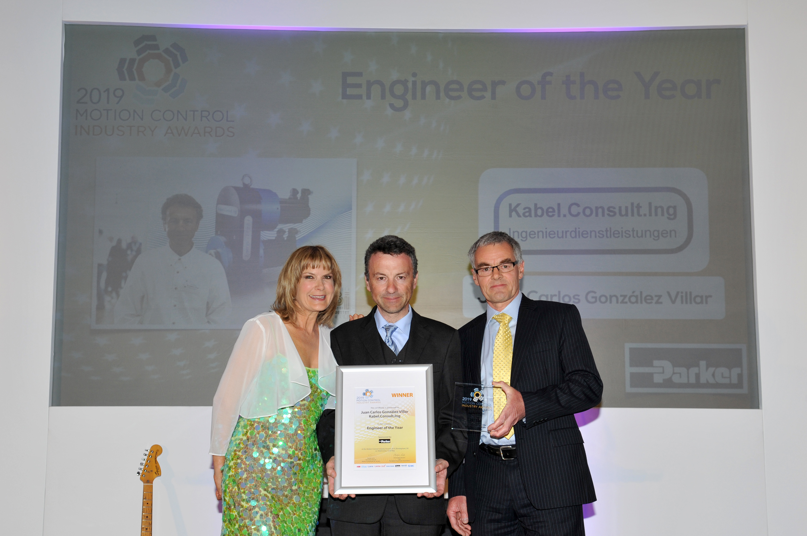 "Juan Carlos González Villar (pictured centre) named ""Engineer of the Year 2019"